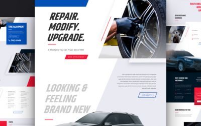 Mechanic website design and layout
