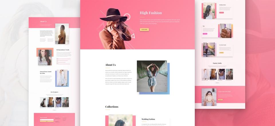 Fashion Model Agency Website Design