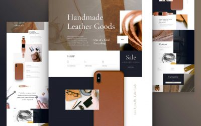 Leather company website design and layouts