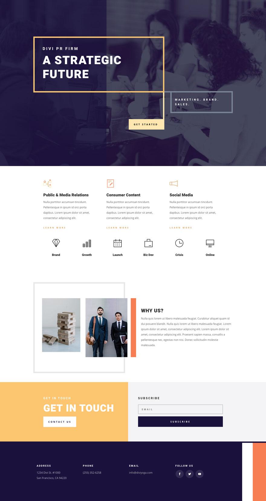 Public Relations Website Design