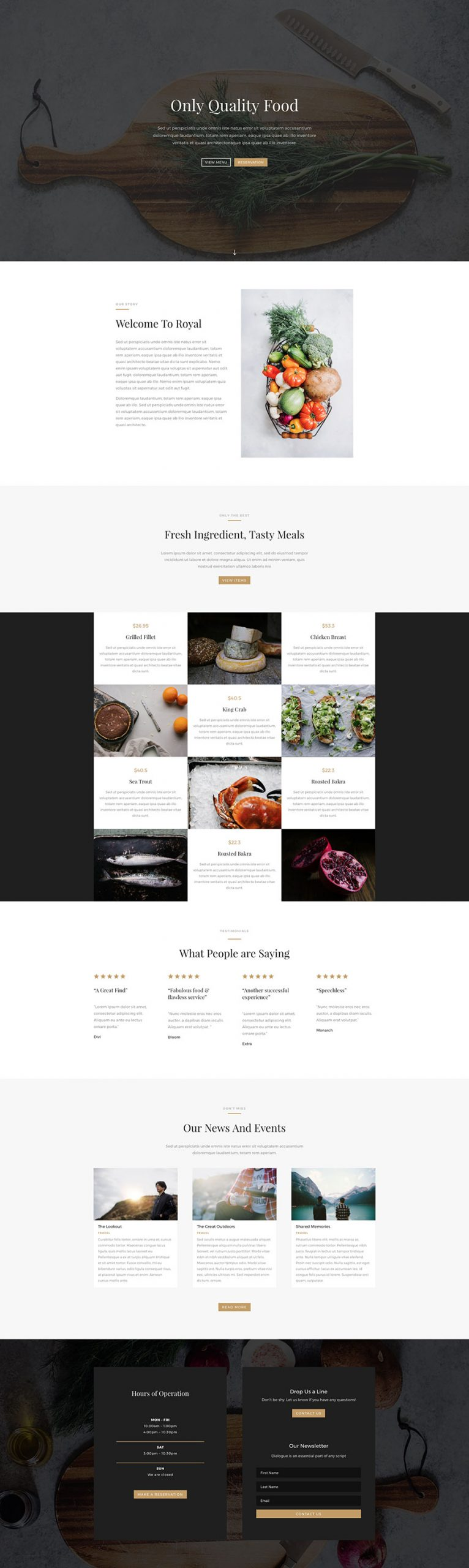Restaurant Website Using WordPress