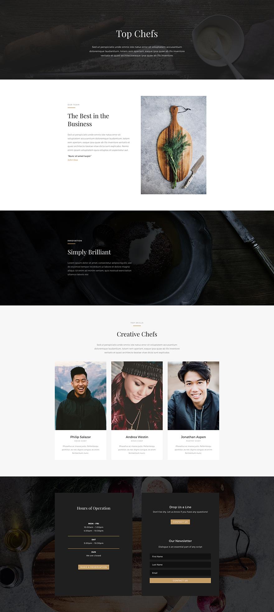 Restaurant Website Using WordPress
