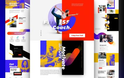 Fitness coach website design